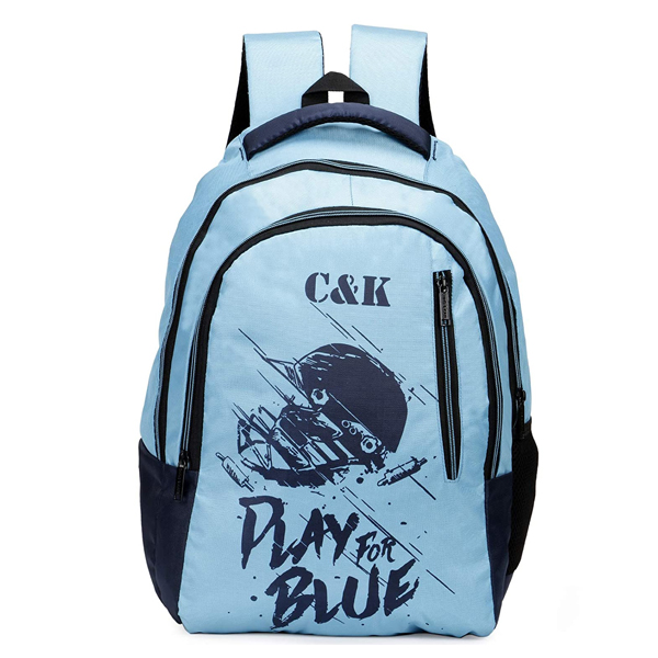 Chris & Kate ( CKB_331LL) Polyester 32 LTR Spacious Comfort ( Navy Blue and Teal Blue)