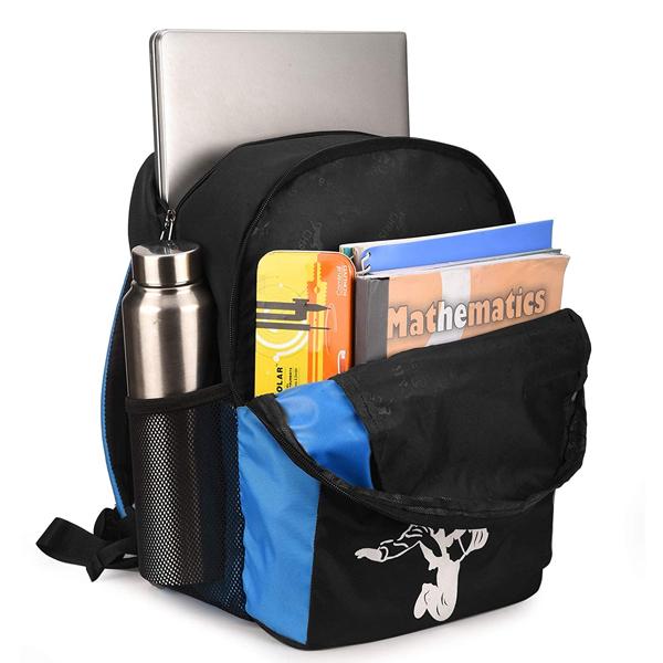 Chris & Kate (CKB307LL) Polyester 28 Liters 23 cm School Bag (Black & Blue)