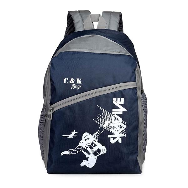 Chris & Kate ( CKB_122SS) Polyester 26 Ltr Blue School Backpack