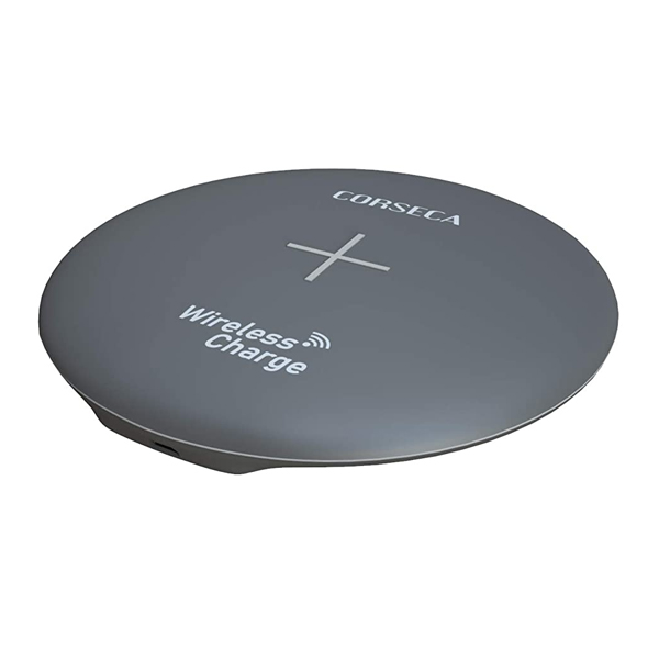 CORSECA (DMCWL101) Power Pie Qi-Certified Wireless Charging Pad for iOS Android Smartphone (Multicolour)
