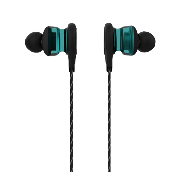 Corseca (DMHF44) Scarlet Bassplus in-Ear Sporty Headphones with Integrated Mic and Volume Control (Blue and Maroon)