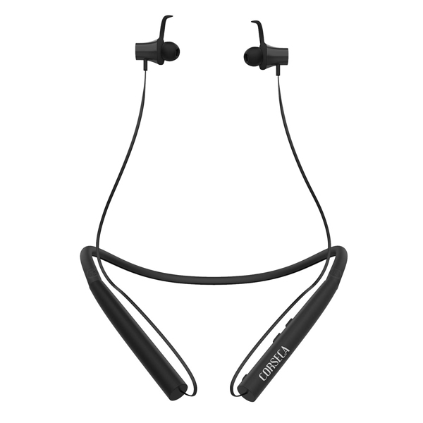 Corseca Nek (DM4920) Plus Bluetooth Wireless Earphone with Immersive Stereo Sound Long Battery Life with Mic (Black and Grey)