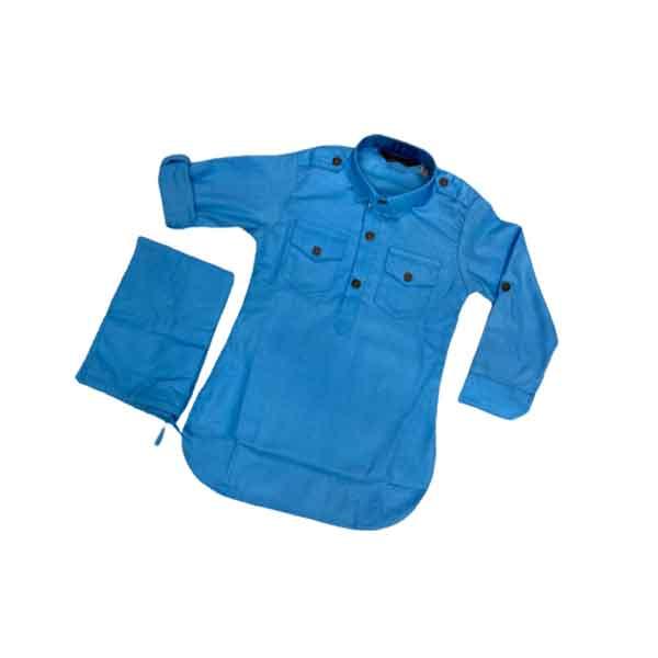 Crunchy Kids Cotton Pathani Suit For Boys