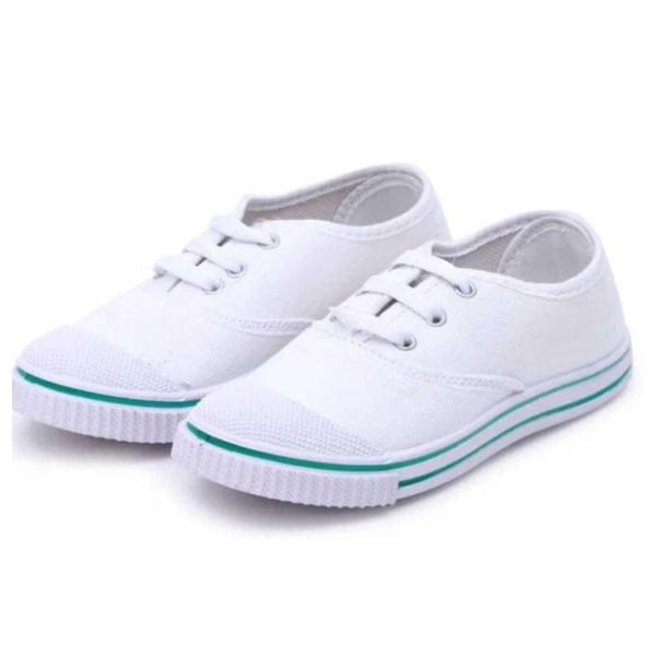 Dayz School Age Uniform Shoe-White T 20 (6x10, 7x10)