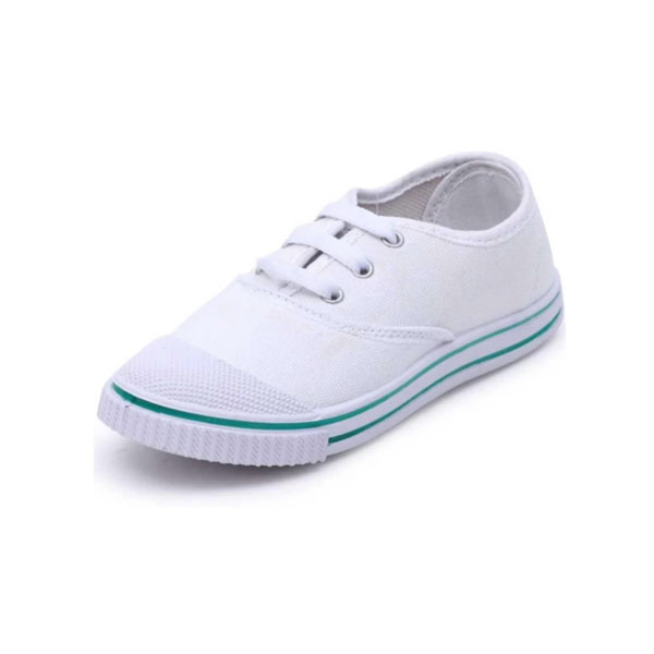 Dayz School Age Uniform Shoe-White T 20 ( 11X1,12X1 )