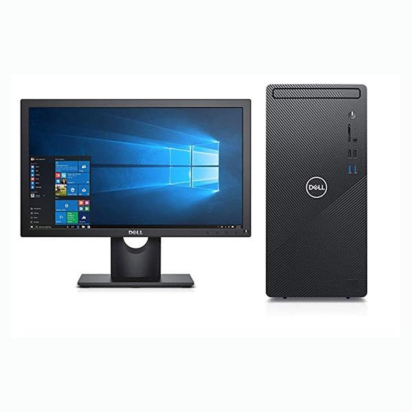 """Dell Inspiron 3891 Desktop (Intel Core i3/ 10th Gen/ 4GB RAM/ 1TB HDD/ Windows 10 + MS Office/ 19.5"""" HD LED/ NO DVD/ BT+WiFi/ 3 Years Warranty) Black"""