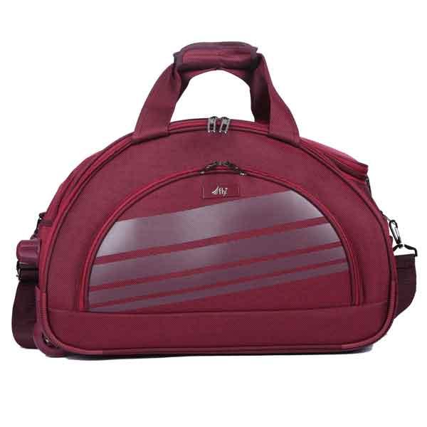 FLY Sapphire DFT 58 cms Brown Duffel Trolley Bag