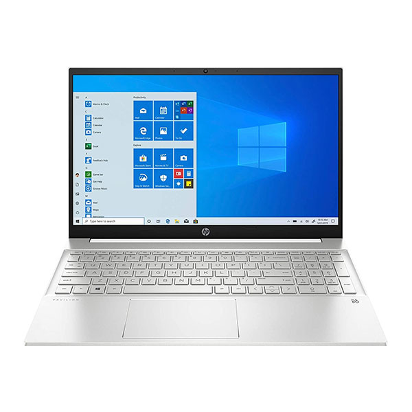 """HP 15s-eq2042AU (3V6Q0PA) Laptop (AMD Ryzen 3-5300U/ 8GB RAM/ 512GB SSD/ Windows 10 Home + Ms Office/ 15.6 """" FHD), Natural Silver"""