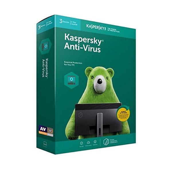 Kaspersky Anti-Virus 2020 Latest Version - 3 PCs, 3 Years