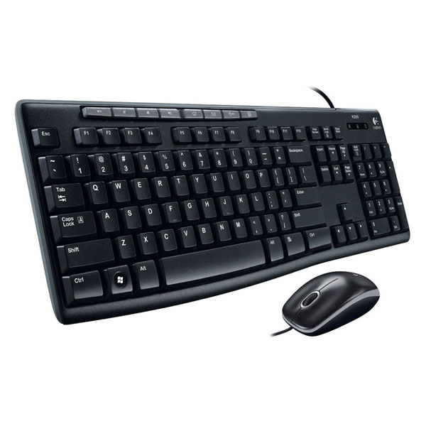 Logitech MK200 Media Wired Keyboard and Mouse Combo Black