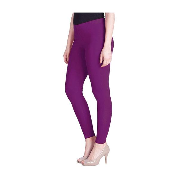 MKS Impex Cotton Lycra Ankle Length Leggings For Women & Girls (Purple)