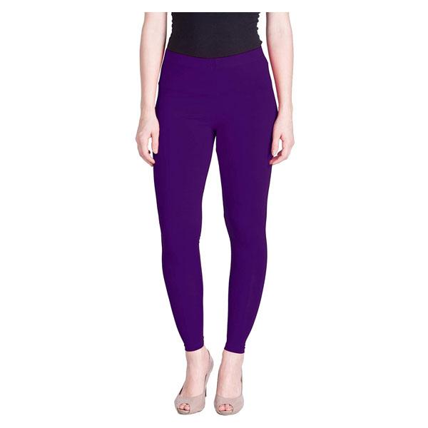 MKS Impex Cotton Lycra Ankle Length Leggings For Women & Girls (Royal Blue)