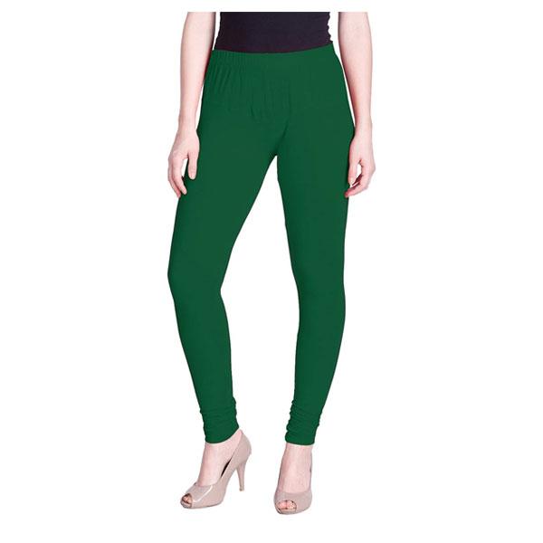 MKS Impex Women's Churidar Leggings Soft Cotton Lycra 4 Way Stretchable (Green)