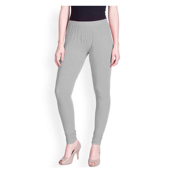 MKS Impex Women's Churidar Leggings Soft Cotton Lycra 4 Way Stretchable (Grey)