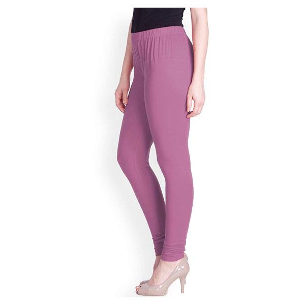 MKS Impex Women's Churidar Leggings Soft Cotton Lycra 4 Way Stretchable (Purple)