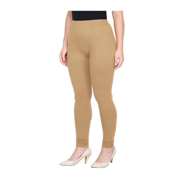 MKS Impex Women's Churidar Leggings Soft Cotton Lycra 4 Way Stretchable (Skin)