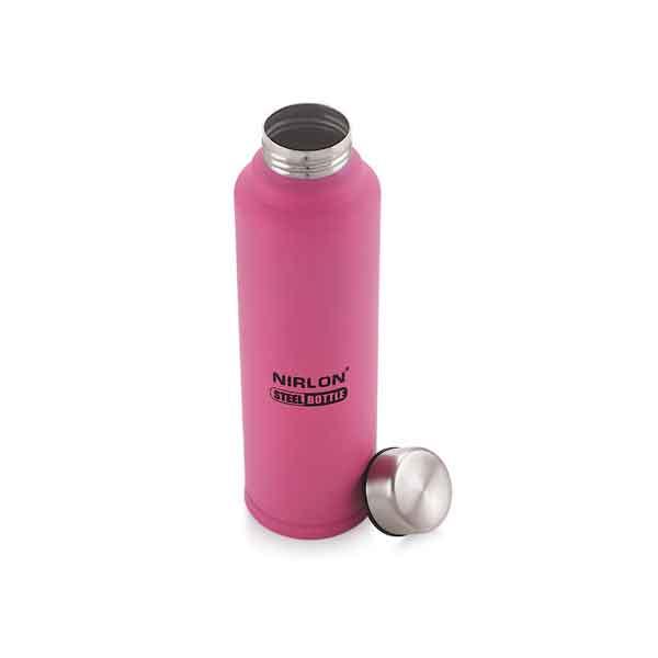 Nirlon Aqua pink 1000ML Stainless Steel Freezer Bottle (70019)