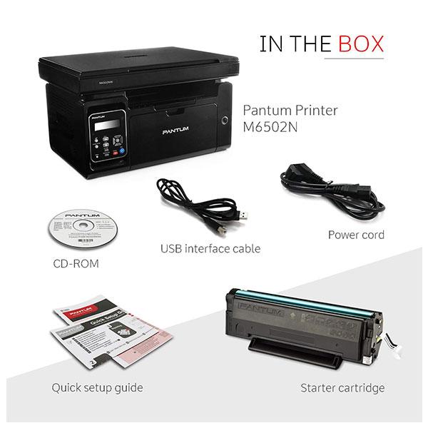 Pantum (M6502NW) Laser Multi-function Monochrome Printer (Black and White)