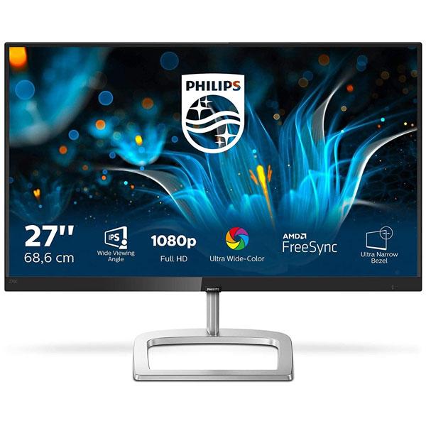 "PHILIPS (276E9QJAB/94) 27"" IPS Panel Smart Image LED Monitor, 3W x 2 Speaker, HDMI & VGA Connectivity, FHD (Black)"