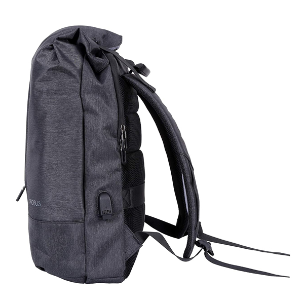 Probus Unisex Water Resistant Laptop Backpack for 15.6 inch Laptop with USB Charging Port (Dark Grey)