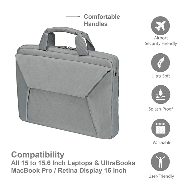Probus Laptop Sleeve Bag for 14-15.6 Inch Laptop/MacBook/Chromebook (Grey)