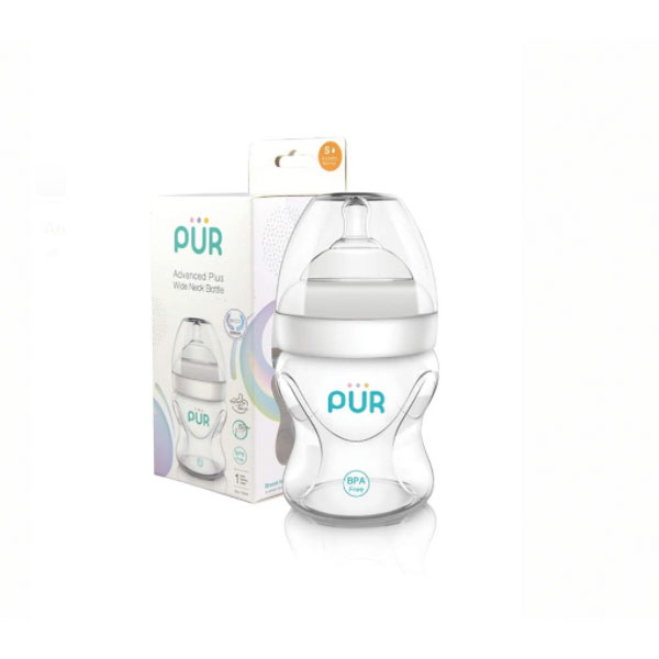 PUR Baby Milk Bottle/ Age Group-3-12 Months (White)