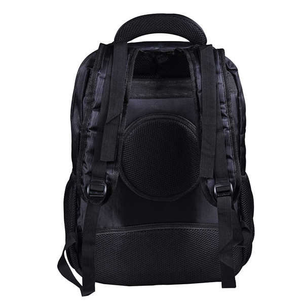 Shopizone Polyester Business Backpack College Bag Casual Daypack with 15.6 Laptop Compartment (Black)