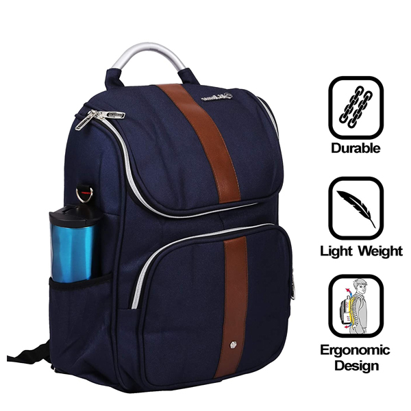 Shopizone Stylish Travel College Bag 13 inch Laptop Backpack Casual Daypack for Girls & Boys (Blue)