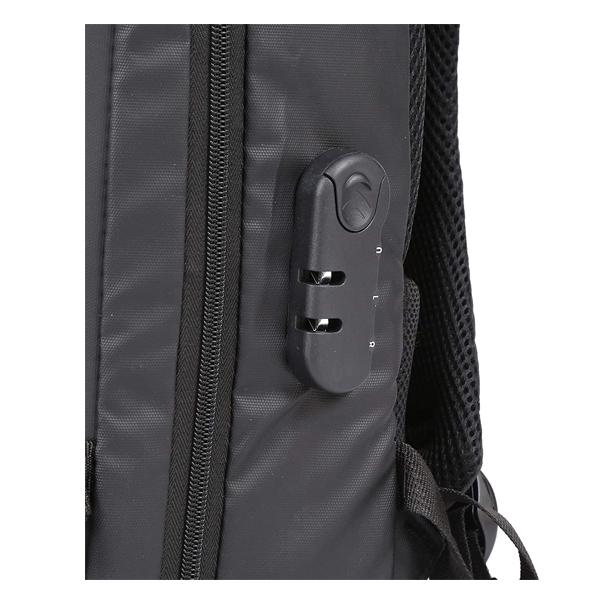 Shopizone Business Travel Backpack Anti Theft Bag Pack with USB Charging Port & 3.5mm Audio Jack 15.6 inch Laptop Bagpack Travel Daypack for Men (Black)