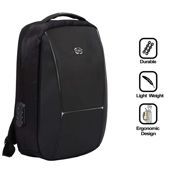 Shopizone Anti-Theft Business Backpack 15.6 Inch Laptop Backpack for Men with USB Charging Port (Black)