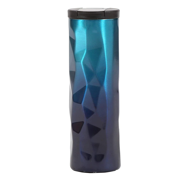 Shopizone Stainless Steel Insulated Vacuum Flask Leak-Proof Travel Sports Water Bottle (Blue)