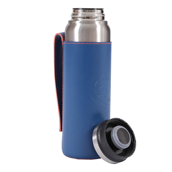 Shopizone Flask Insulated Water Bottle Leak-Proof Stainless Steel Vacuum Thermos (Silver)
