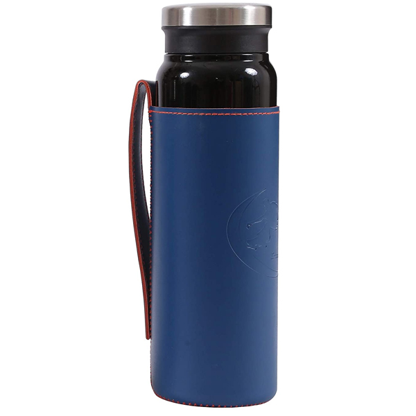 Shopizone Flask Insulated Water Bottle Leak-Proof Stainless Steel Vacuum Thermos (Black)