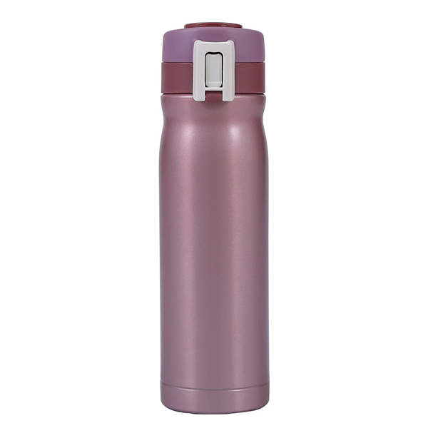 Shopizone Insulated Water Bottle Stainless Steel Vacuum Thermos Flask Leak-Proof Travel Sports Bottle (Pink)