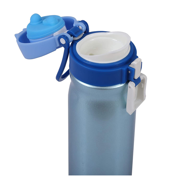 Shopizone Insulated Water Bottle Stainless Steel Vacuum Thermos Flask Leak-Proof Travel Sports Bottle (Blue)