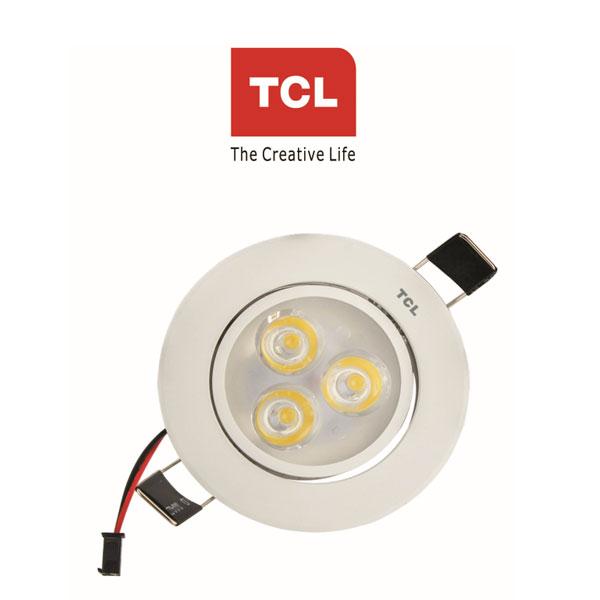 TCL LED MINI SPOT CEILING LIGHT WHITE 3W 6000K (COOL WHITE)180 ROTATIVE RECESSED