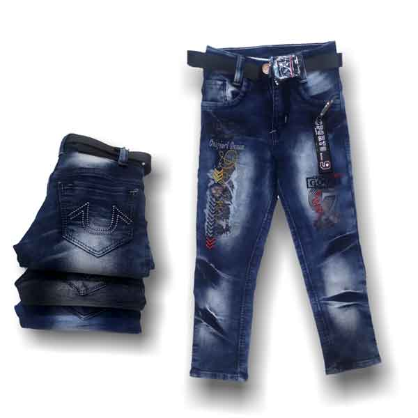 Way 2 Jeans Kids For Boys Regular Fit Blue And Black (5211)