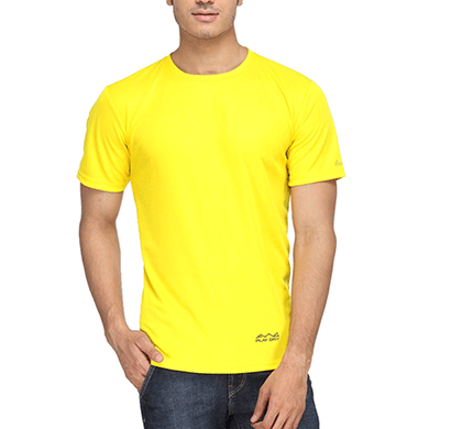 awg 100anb (150 gsm) drifit performance sports round neck t-shirt yellow
