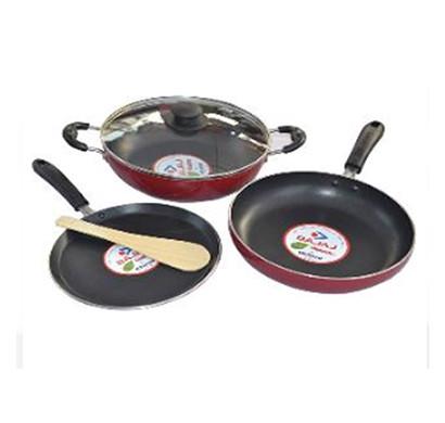 bajaj majesty duo cookware 3pcs set