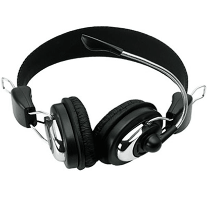 circle - concerto 201, multimedia headset with mic, over the ear, black, 1 year manufacturing warranty