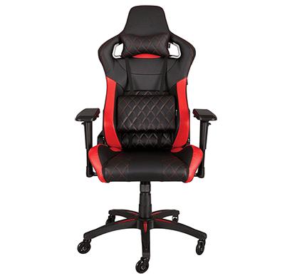 corsair t1 race gaming chair black/red