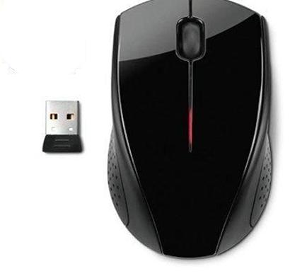hp- x 3000, wireless mouse (h2c22aa), black, 1 year warranty