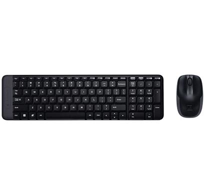 logitech- mk215, mouse combo and wireless keyboard, black, 1 year warranty