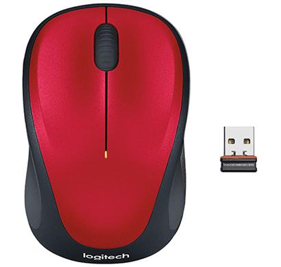 logitech- m235 ,wireless mouse , red, 1 year warranty