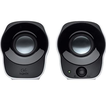 logitech- z120 , 2.0 mini desktop speakers, black, 1 year warranty