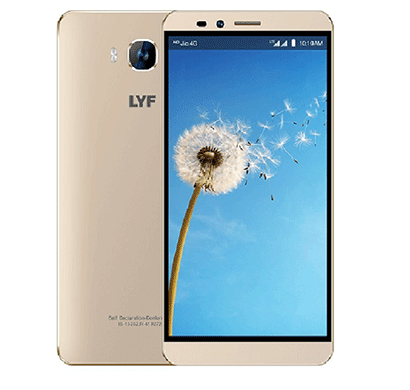 lyf 6001 gold 2gb ram, 6 inches hd display, 2850 mah battery gold