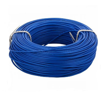 polycab (1sqmm) frlf pvc, 300 mtr, insulated single core unsheathed industrial cable 90mtr (blue)