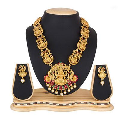 profuzon marketing alloy women's necklace set (multicolor)