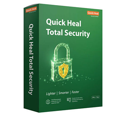 quick heal antivirus total security latest version - 5 pc, 1 year (cd/dvd)