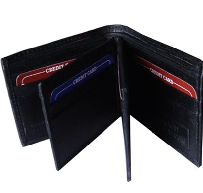 saw -1604, bi-fold wallet leather, black